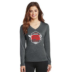 LST360LS Ladies Contender V-Neck Long Sleeve